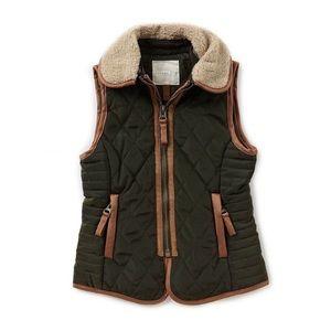 Copper Key Faux-fur Quilted Vest Girls 7